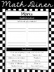 Math Diner - Math Unit Inventory in English and Spanish