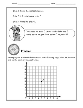Math - Directions Along A Grid: Tutorial and Practice