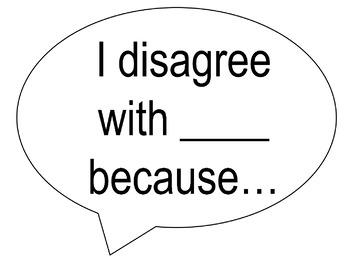Math Discourse Sentence Stems *Editable