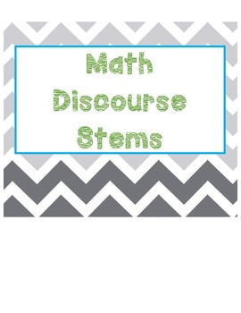 Math Discourse Talking Stems