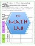 Math Discovery Labs: Powers of Ten (10) & Multiplying and