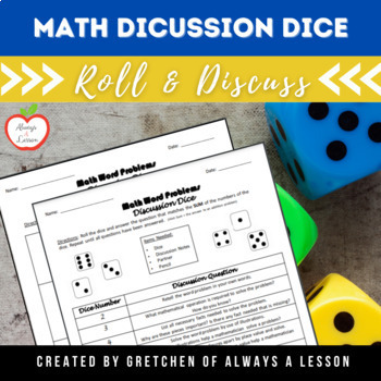Student Math Discussion Dice for Word Problems