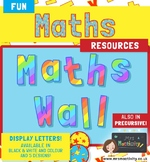 Math Display Lettering