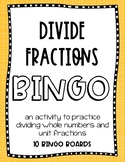 Math - Divide Fractions BINGO
