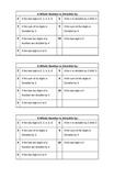 Math Divisiblity Chart