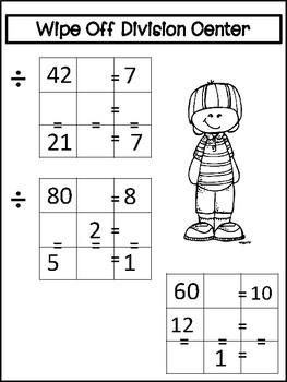 Math Division Centers: No Prep