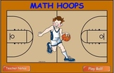 Math Division Hoop Shoot basketball Smart Board game 3 & 4 digits by 1 digit
