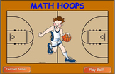 Math Division Hoop Shoot basketball Smart Board game 2 dig