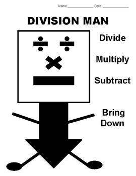 Math - Division Man (Handouts)