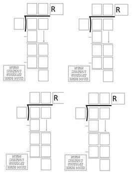 Math Division Problem Template (4 Different Sizes)