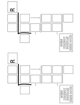 Math Division Problem Template (4 Different Sizes)