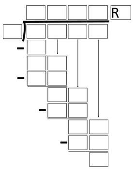 Math Division Problem Template 4-Digit Dividend