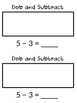 Math Dob and Subtract Booklet