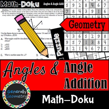Math-Doku: Angles and Angle Addition; Geometry, Sudoku
