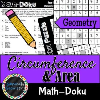 Math-Doku: Area and Circumference of Circles; Geometry, Sudoku