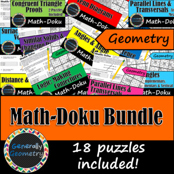 Math-Doku Bundle! Geometry, Sudoku