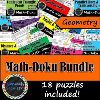 Math-Doku Bundle! Geometry, Sudoku