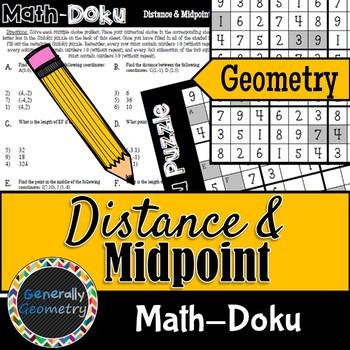 Math-Doku: Distance and Midpoint; Geometry, Sudoku