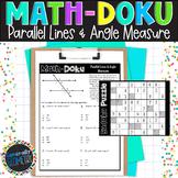 Math-Doku: Parallel Lines & Transversals Angle Measures; Geometry, Sudoku
