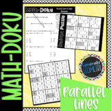 Math-Doku: Parallel Lines & Transversals Angle Measures; Geometry, Sudoku