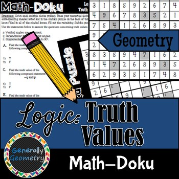 Math-Doku: Truth Values of Compound Statements; Geometry, Sudoku