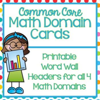 Math Domain Word Wall Headers