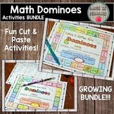 Math Dominoes Activities (Growing Bundle)