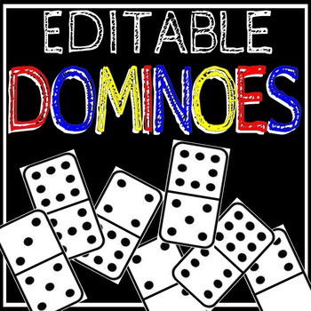 Editable Math Dominoes A Quick and Easy Way to Review ANY Skill