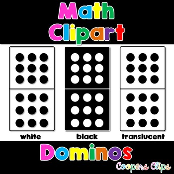 Math: Dominoes Clipart
