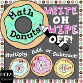 Math Donuts (Addition, Subtraction or Multiplication Game)