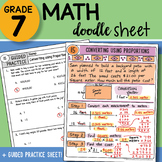 Math Doodle - Converting Using Proportions - Easy to Use N