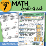 Math Doodle - Finding Probability Using a List - Easy to U