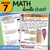Math Doodle - Finding Probability using a Tree Diagram - Easy to Use Notes w PPT