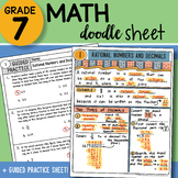 Math Doodle - Rational Numbers and Decimals ~ So EASY to U