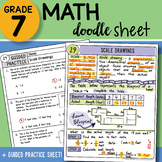 Math Doodle - Scale Drawings - Easy to Use Notes with PowerPoint