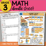Math Doodle Sheet - Customary & Metric Units of Capacity - So EASY to Use w PPT