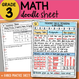 Math Doodle Sheet - Frequency Tables, Pictographs & Bar Gr