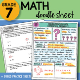 Math Doodle Sheet - Making Predictions with Experimental P
