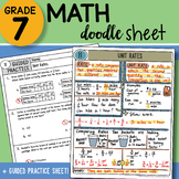 Math Doodle - Unit Rates - Easy to Use Notes with PowerPoint