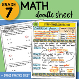 Math Doodle - Using Conversion Factors - Easy to Use Notes