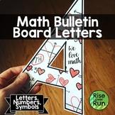Math Doodles Bulletin Board Letters, Alphabet