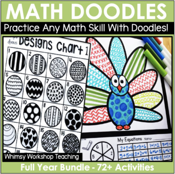 Math Doodles Entire Year Seasonal Bundle