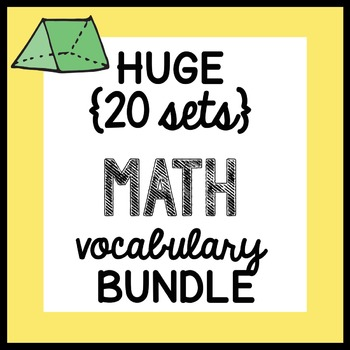 HUGE {all the VOCABULARY sheets} Math Doodles BUNDLE - ALL YEAR plus booklet