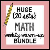 HUGE {all the Weekly Warm-ups} Math Doodles BUNDLE - ALL YEAR