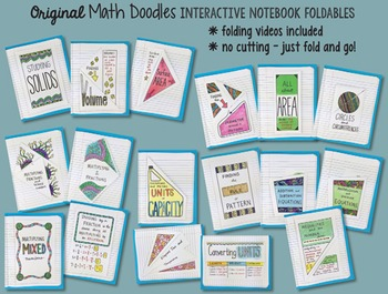 Doodle Notes - HUGE {all the FOLDABLES} MATH Bundle ALL-YEAR INB, Grades 3-6