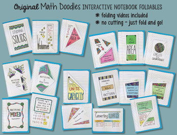 Math Doodles ALL in ONE Interactive Notebook ALL YEAR SET - 1200+ pages