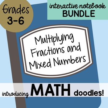 Math Doodles Interactive Notebook Bundle 11 - Multiplying Fractions