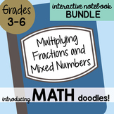 Doodle Notes - Math Interactive Notebook Bundle 11 - Multiplying Fractions