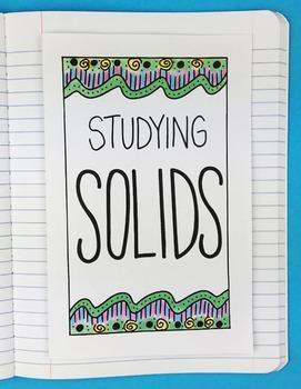 Doodle Notes - Math Doodles Interactive Notebook Bundle 13 - Solids