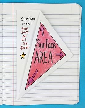 Math Doodles Interactive Notebook Bundle 13 - Solids